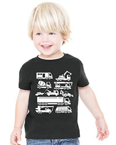 Waldeal Boys Cute Trucks Costume T Shirt Kids Cartoon Dumper Excavator Graphic Tee 5 6 Year -