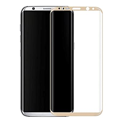 Solobay SAMSUNG S8 Plus 3D Curved Edge Glass Screen Protector Full cover Glass Screen Protector film Anti-GlareAnti-Scratch Anti-Dust and wafterproof 9H Glass Screen Protector Film