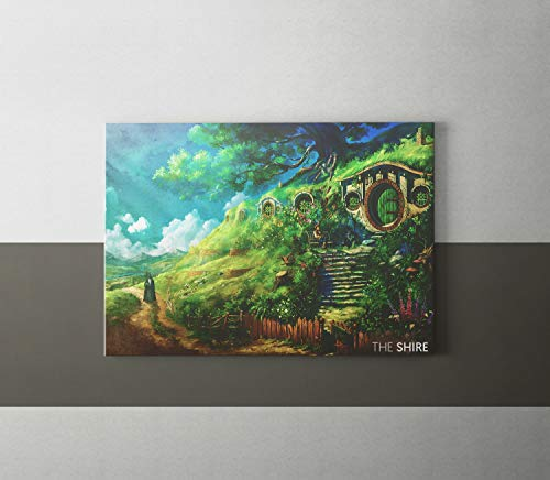 The Shire Print Lord of The Rings LOTR JRR Tolkien Hobbit Poster Bilbo Baggins Art The Shire Poster The Shire Wall Art The Shire Birthday ()