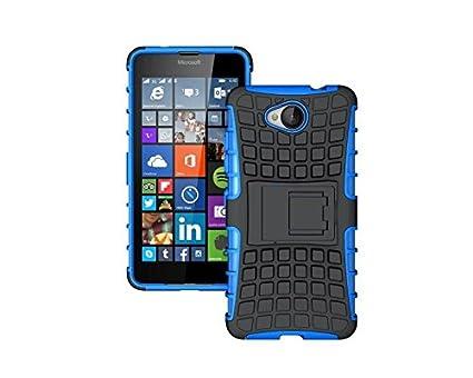 Dooki, Lumia 650 Hü lle, Zerklü ftet Kippstä nder Zä h Hohe Schlag Schwerlast Stoß fest Fallschutz Hybrid 2 in 1 Dual Schicht Hart Silikon Gummi Schü tzend Tasche Schutzhü lle fü r Microsoft Lumia 650 DKN650HYD