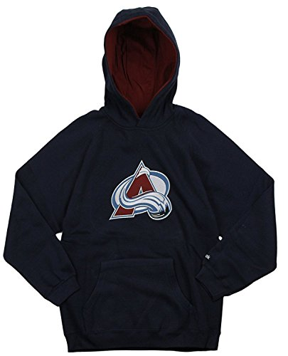 NHL Colorado Avalanche Big Boys Youth Pullover Fleece Hoodie, Navy