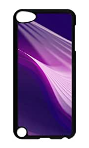 Ipod 5 Case,MOKSHOP Awesome Patterns Purple Swirl Hard Case Protective Shell Cell Phone Cover For Ipod 5 - PC Black