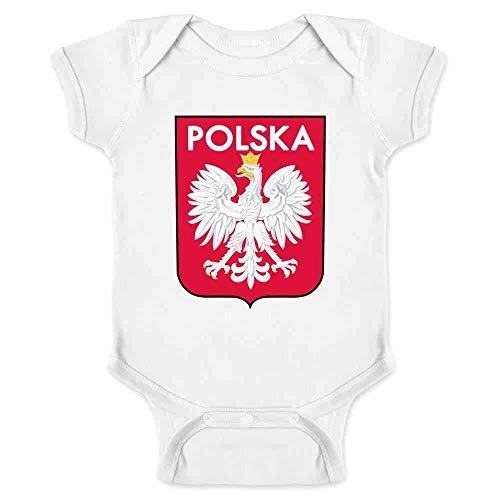 (Poland Soccer National Team Football Retro Crest White 6M Infant Bodysuit)