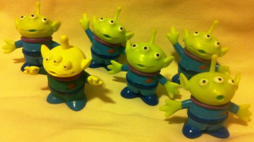 Disney Pixar Toy Story, Party Favor Favors Give Aways Goody Bag Fillers Set of 6 Little Green Men Alien 1.5