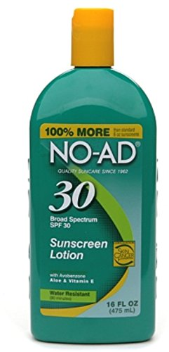 NO-AD Sunscreen Lotion, SPF 30 16 oz (Pack of 7)