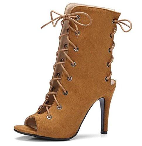 Club à EU41 Taille Stiletto Sandales 35 41 Velours YELLOW Party Bretelles creux Chaussures Cheville Rome xie Femmes Heel TzwqpRz1