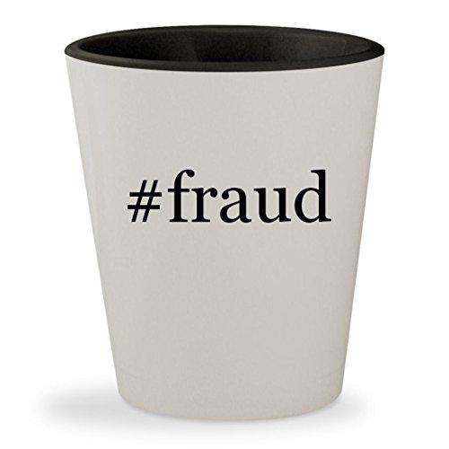 #fraud - Hashtag White Outer & Black Inner Ceramic 1.5oz Shot Glass