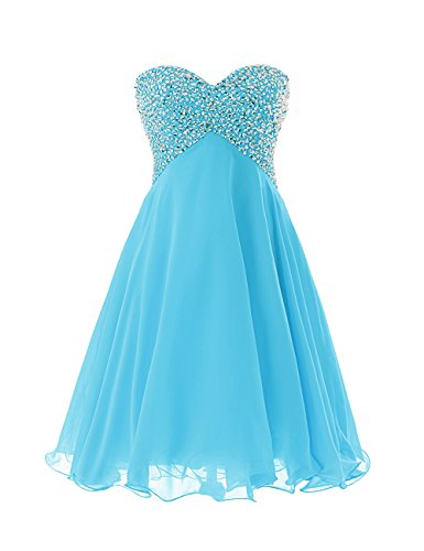 Dressystar Sweety Girls Cocktail Homecoming Gowns Prom Pageant Dress Lace-up Size 16 Blue