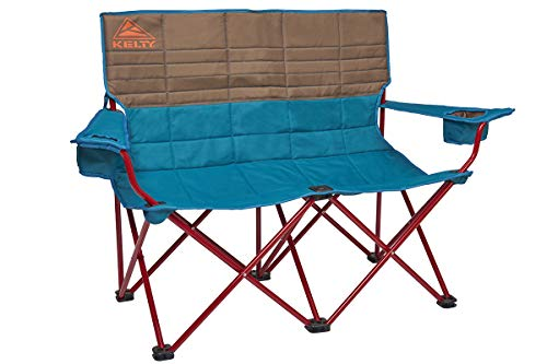 Kelty Loveseat Camping Chair, Deep Lake/Fallen Rock - Folding Double Camp Chair for Festivals, Camping and Beach Days - Updated 2019 Model
