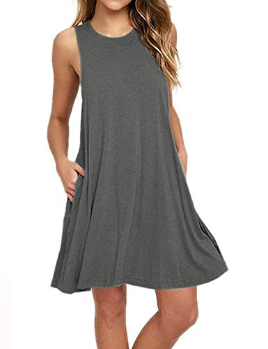 - Bibowa Knee Length Dresses for Women Skater Dresses Grey XL