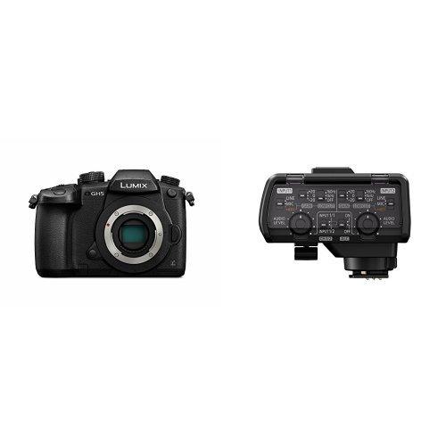 PANASONIC LUMIX GH5 Body 4K Mirrorless Camera with Professional Microphone Adaptor