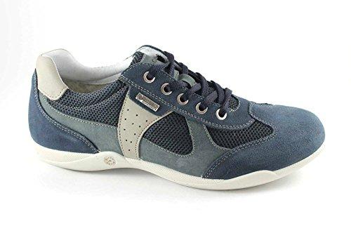 IGI & CO 57090 hombre azul zapatillas de deporte tejidas cordones de gamuza Blu