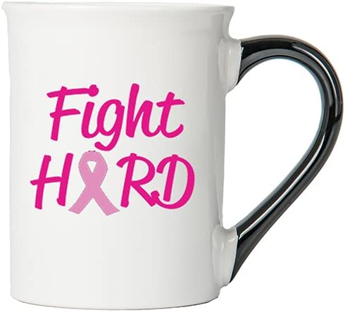 Cancer Awareness Mug; Fight Hard; Cancer Awareness Coffee Cup By Tumbleweed