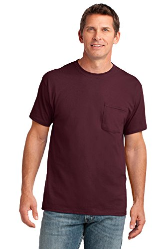 (Port & Company Men's 54 oz 100% Cotton Pocket T Shirt XXL Athletic)