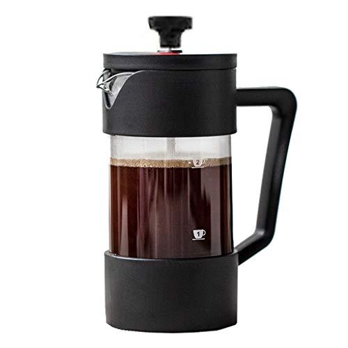 HYJBGGH Cafeteras de émbolo Cafetera Francesa, Cafetera De Émbolo Pequeña con Filtro Eficiente, Vidrio De Borosilicato…