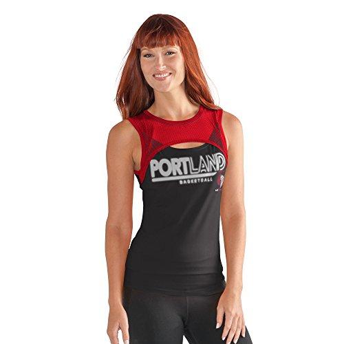 G-III Sports NBA Portland Trail Blazers Women's Power Up! Tank Top, X-Large, Black (Portland Trailblazers Tank Top)
