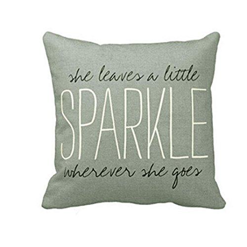 Pillowcase Ammazona Letters Pillow Case Sofa Waist Throw Cushion Cover Home Decor