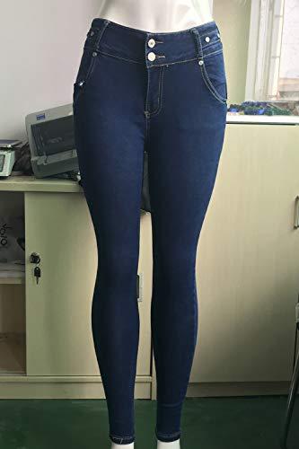 Yacun Haute Darkblue De Taille Jeans Fesses Liftting Jeans des tirer Femmes Les FqParF