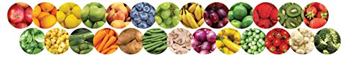 (Hygloss Products Fruits and Veggies Die-Cut Bulletin Board Border – Classroom Decoration – 3 x 36 Inch, 12 Pack)