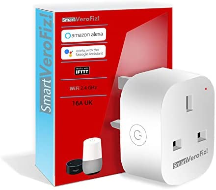 Smart VeroFiz Smart Plug 2019 WiFi UK 16A for Alexa Google Home IFTTT