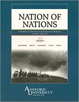 Book Nation of Nations: A Narrative History of the American Republic, Vol. 2: To 1865 (Chapters 17-32)
