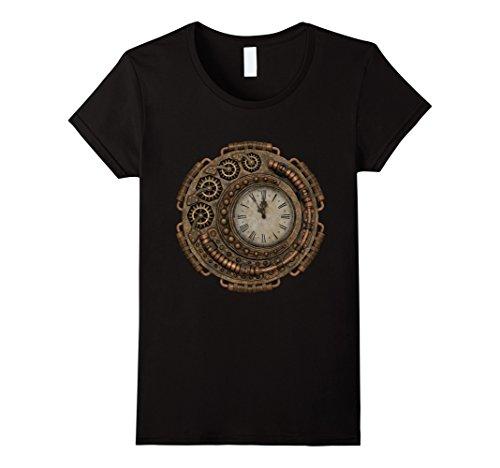 Womens Steampunk Clock Hipster Cool T-Shirt Medium - Hipster Clothing Punk