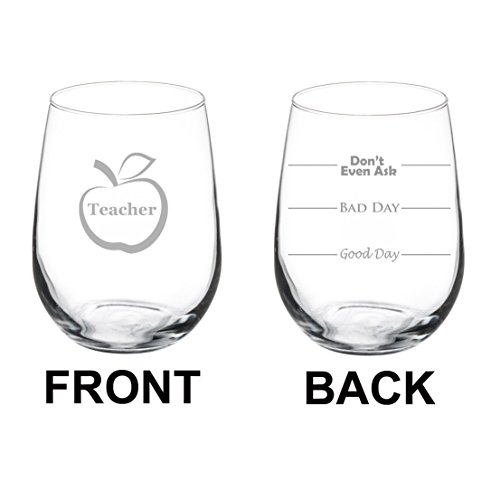Stemless Glass Funny Sided Teacher product image