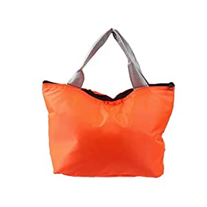 Start Waterproof Portable Thermal Insulated Lunch Box Tote Cooler Zipper Bag Bento Lunch Pouch (Orange)