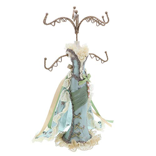 - Li'Shay Elegant Elizabethan Style Gown Mannequin Necklace Stand-Light Green