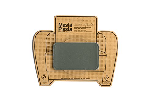 (MastaPlasta Self-Adhesive Patch for Leather and Vinyl Repair, Medium, Gray - 4 x 2.4 Inch - Multiple Colors Available)