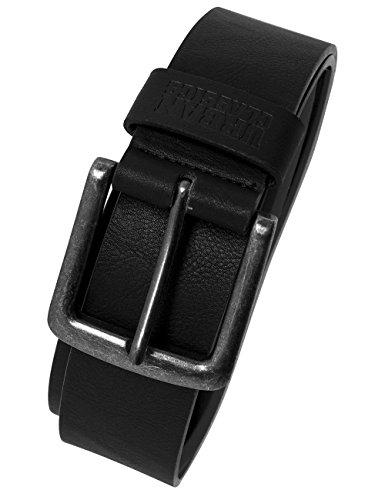 Urban Classics Herren & Damen Kunstleder-Gürtel Leather Imitation Belt mit Dornschließe aus Metall