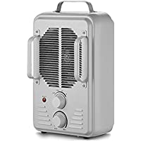#1 Durable Rugged Metal Utility Space Heater with Adjustable Thermostat 2 Heat Settings & Cool Fan Setting - All season use