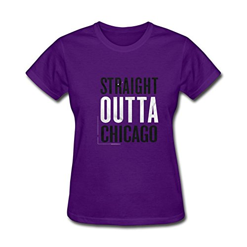 Women's Straight Outta ChiTown Distress Chicago Illinois NWA Short Sleeve T-Shirt