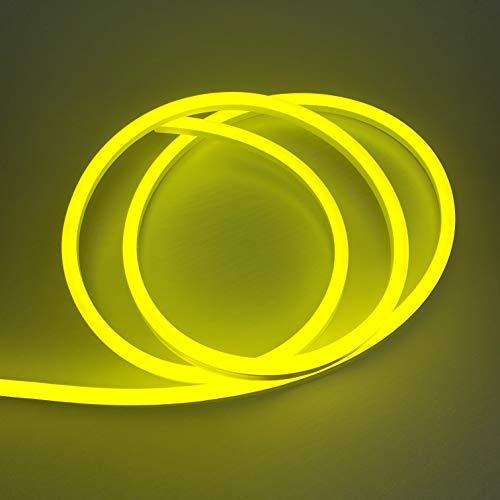 - Vasten LED Neon Rope Light Flexible Hoses IP67 Decoration Light (Yellow)