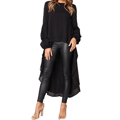 6aa1d16e9f7 Highpot Womens Ruffle High Low Asymmetrical Long Sleeve Tops Blouse Shirt  Dress. Tap to expand