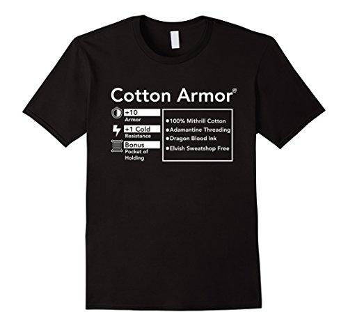 Mens Funny Role Playing T-Shirt Cotton Armor RPG Shirt Geek Nerd XL - Guys Nerd Costume