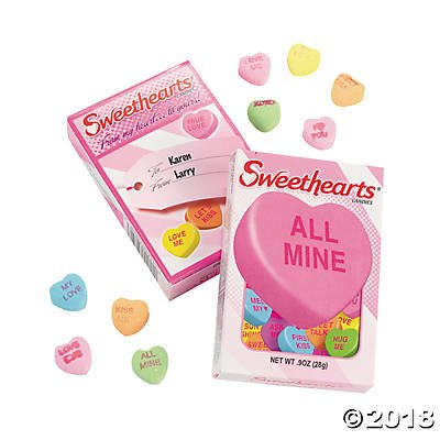 Sweethearts Valentines Conversation Hearts Boxes (Classroom Pack, 24