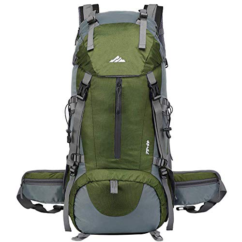 Hiking Backpack 50L Waterproof Camping Backpack with Rain Cover for Man Women