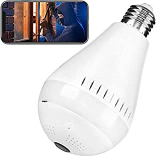 Security Bulb Cameras Wi-Fi Camera Bulb 1080P HD Camera Bulb Cameras 360 Degree Panoramic Security Camera Support Night Vision 2.4Ghz Baby Security Cameras