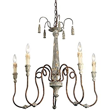country chic lighting. Wonderful Lighting LALUZ 5Lights Shabby Chic French Country Resin Chandelier Lighting Rustic  Chandeliers Pendant Lights To L