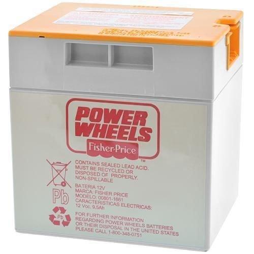 Fisher Price 00801-1661 Power Wheels Grey 12 Volt Battery Orange Top Genuine...