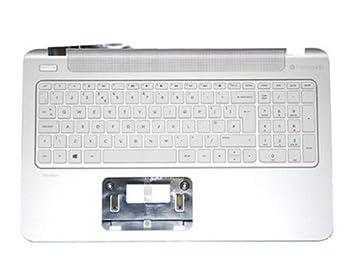 HP 762530-041 Carcasa inferior con teclado refacción para notebook - Componente para ordenador portátil (Carcasa inferior con teclado, Plata, Color blanco, ...