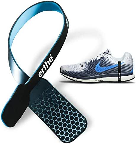 EARTHLING 3.0 - Erthe Athletic Grounding Shoe Strap - Electrically Conductive Band Fits All Shoes - Removes Electric Tension to Increase Performance for Running, Jogging, All Sports and Exercise