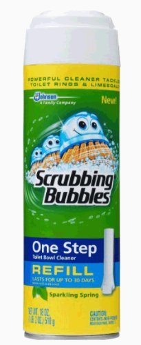 Scrubbing Bubbles One Step Toilet Cleaner Refill, Sparkling Spring, 18 Ounce (Scrubbing Bubbles One Step Toilet Bowl Cleaner Refill)