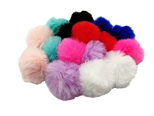 Pamir Tong 40pcs 4CM Cute Soft Faux Fur Pom Pom , Artificial Fur Ball For Earring Shoes Hat Cloth Hair dress Jewelry Accessories