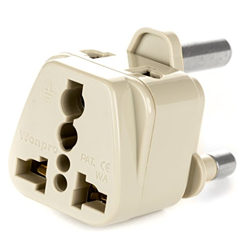 OREI Grounded Universal 2 in 1 Plug Adapter Type M for South