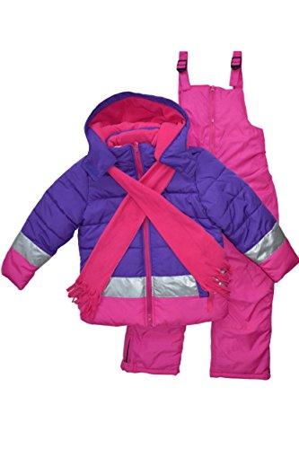 Snowsuits for Kids Girls Ombre Dip Dye 3-Piece Snowsuit