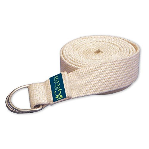 Wai Lana Natural Organic Cotton Yoga Strap, Green by Wai Lana
