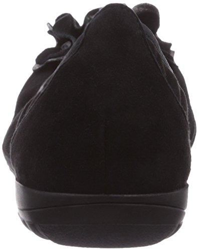 Caprice 22160 - Bailarinas de cuero para mujer negro - Schwarz (BLACK SUEDE/004)