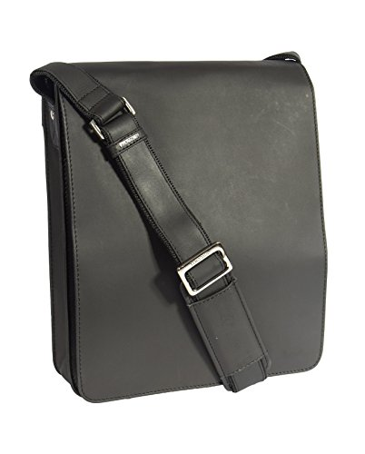 Mens Real Leather Messenger Bag Black Vintage Shoulder Bag iPad Case Los Angeles by House of Leather